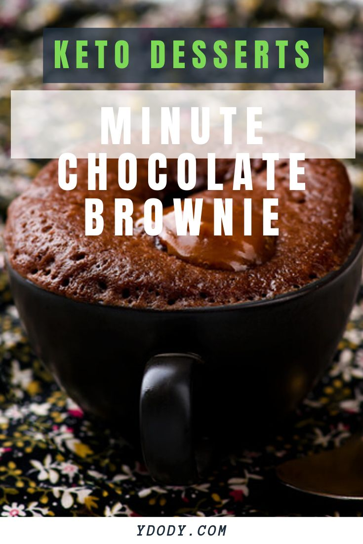 A delicious one minute chocolate brownie mug cake that ...