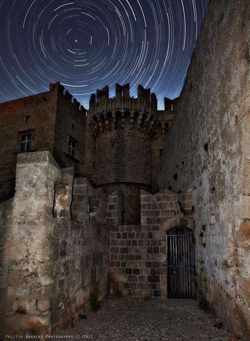 GREECE CHANNEL | #Rhodes #Castle Startrails by Andreas Politis, via 500px #Greece http://www.greece-channel.com/