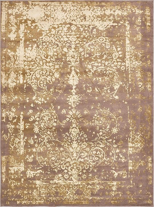 Brown Victorian Area Rug
