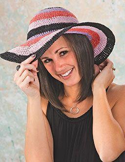 Riviera Sun Hat By Tammy Hildebrand - Free Crochet Pattern - See http://www.crochet-world.com/newsletters/images/2015/40201315-11/RivieraSunHatHR.pdf For PDF Pattern - (crochet-world)