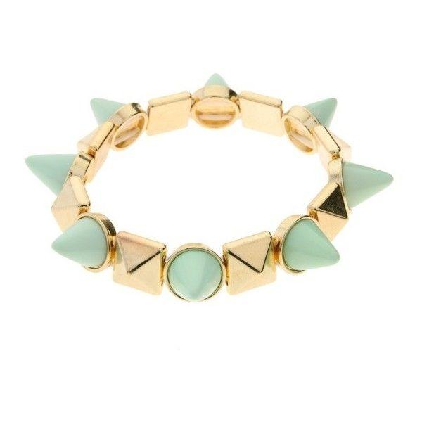 Mint Spike Stud Bracelet found on Polyvore