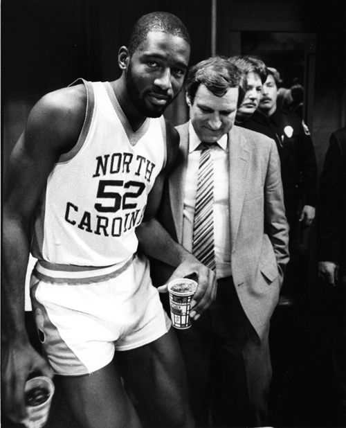 James Worthy and Dean Smith! To me, James Worthy was one of the greatest Tarheel basketball players but you just don't hear his name mentioned as much as it should be mentioned. Big Game James!