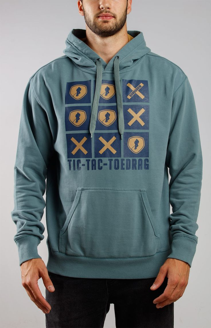 Its A Toe Game Green Hockey Hoodie Sweater - Gongshow Gear - Lifestyle Hockey Apparel