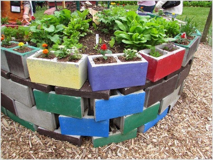 Gardening 4 Life Cinder Block Garden Gardening Pinterest diy