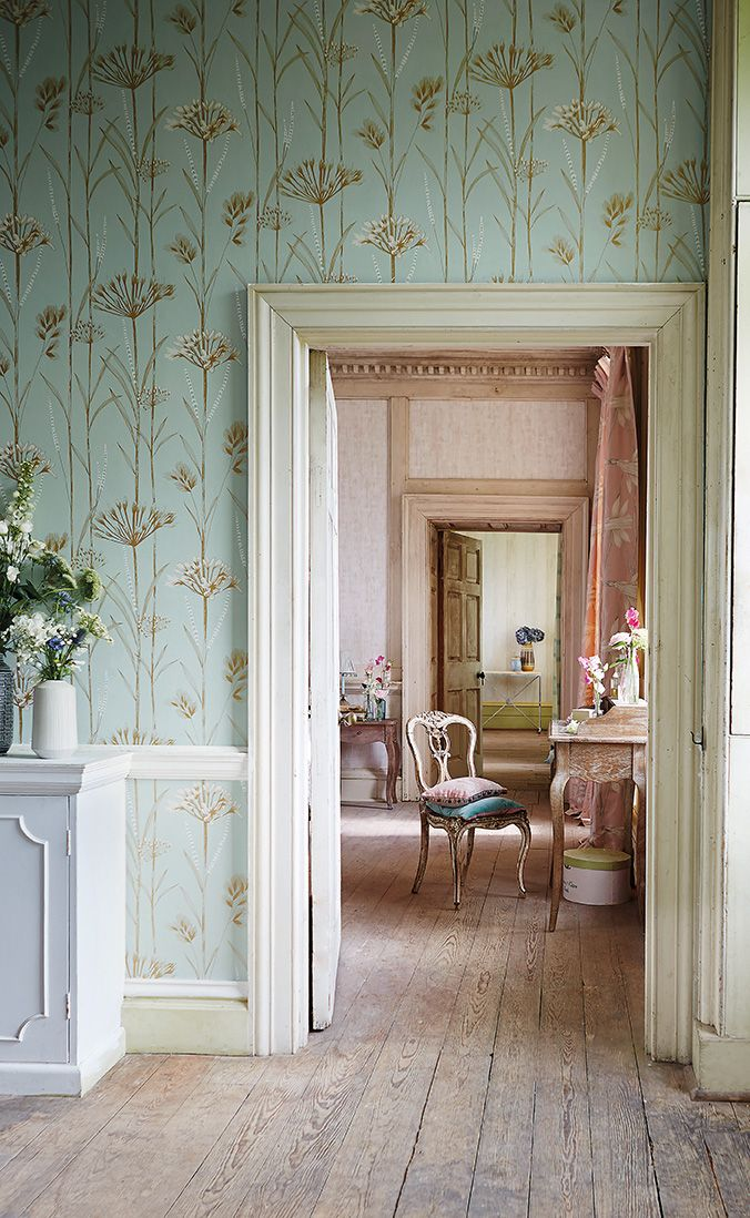 Poetica by Harlequin, a wallpapered room and a delightful setting