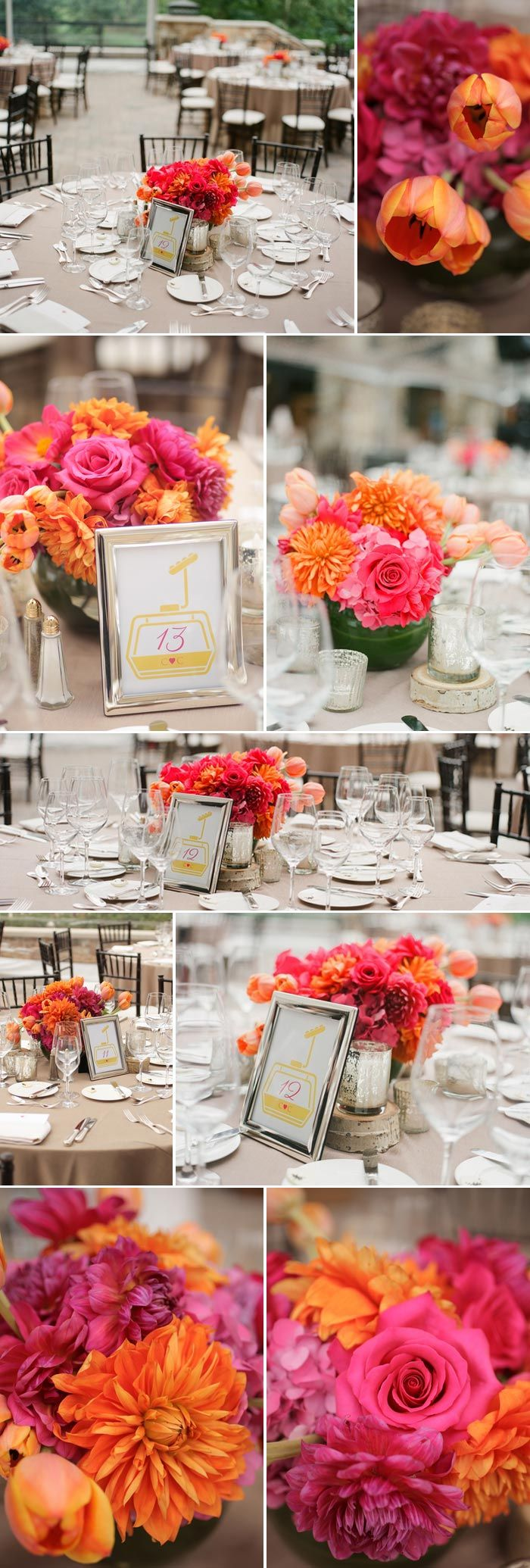 Blumig-frische Hochzeit in Pink und Orange