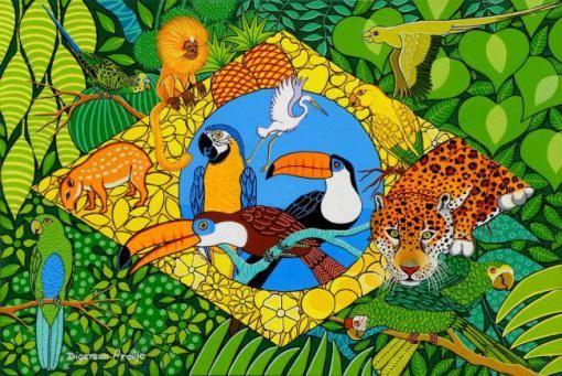 Bandeira do Brasil, 2011 Digerson Araújo (Brasil, 1952) 60 x 40 cm Digerson Araújo