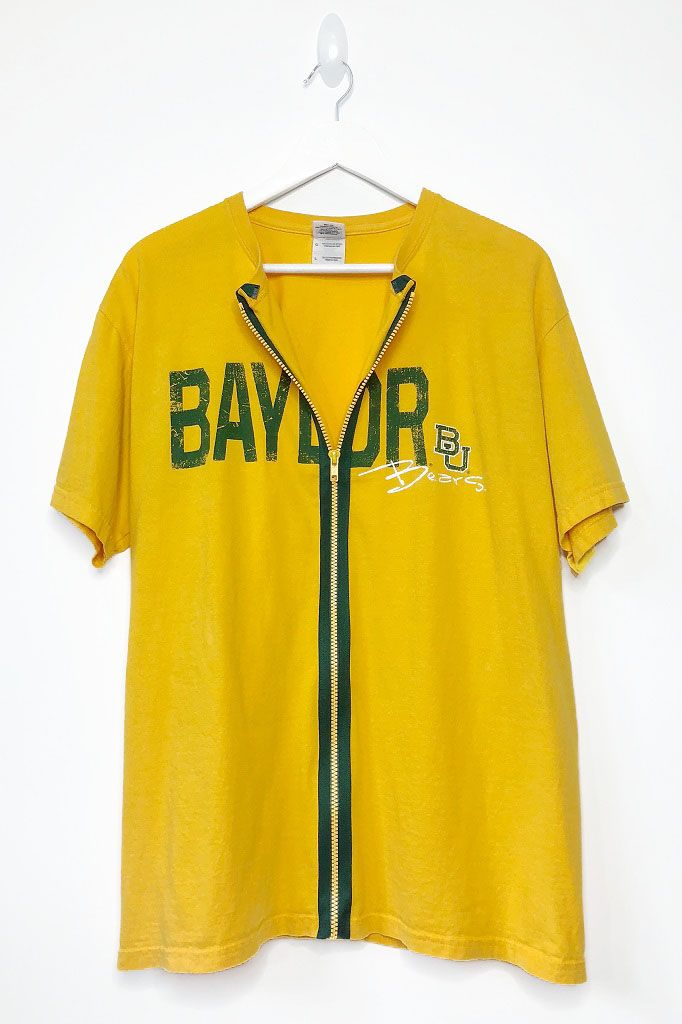 d7d9629868c Baylor University Zip Up T-Shirt || Salvage Threads #college #tailgate  #outfit #ideas #diy #custom #design #tubetop #summer #cute #oversized #tee # tshirt ...