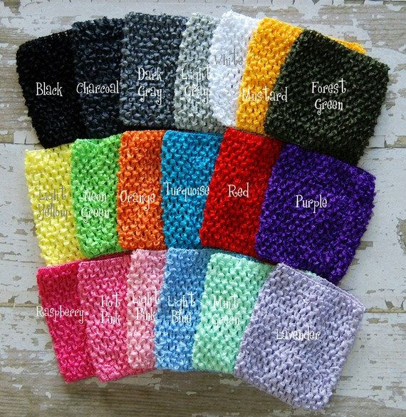 Adorable baby infant and toddler stretchy crochet tube ...
