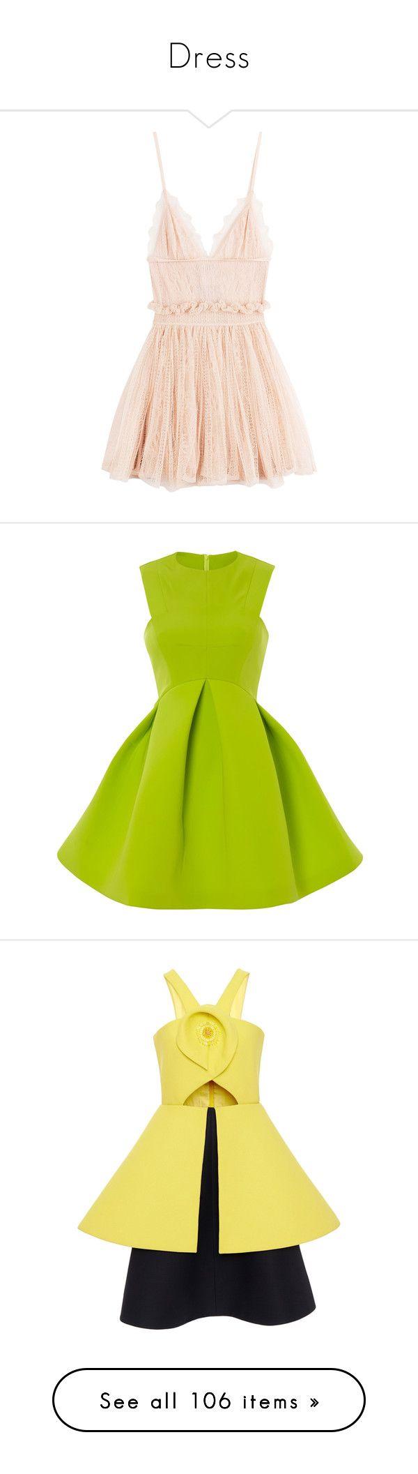 """Dress"" by janjanzira ❤ liked on Polyvore featuring dresses, vestidos, short dress, beige, mini dress, v neck cocktail dress, short skirts, lace dress, pink lace cocktail dress and short dresses"