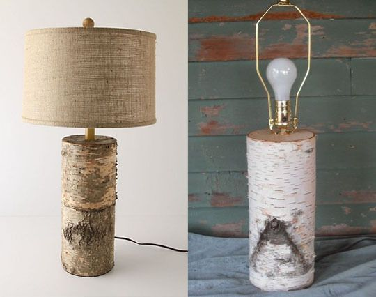 white birch lamp found here http://www.etsy.com/listing/65391871/white-birch-log-table-lamp-for-a-touch