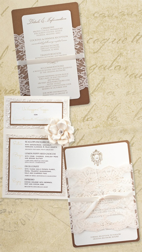 Lace and 3D floral stationery suite Phoenix Bride and Groom, The Event Essentials, CWLife Photography #wedding #invitation #lace #stationery