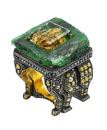 Another Sevan Bicakci Piece...this is from the Emeralds for Elephants collection at Selfridges, which was a charity event aimed at collecting money for the charity 'The Land Trust'. Other designers' creations inspired by elephants, were also available for purchase.