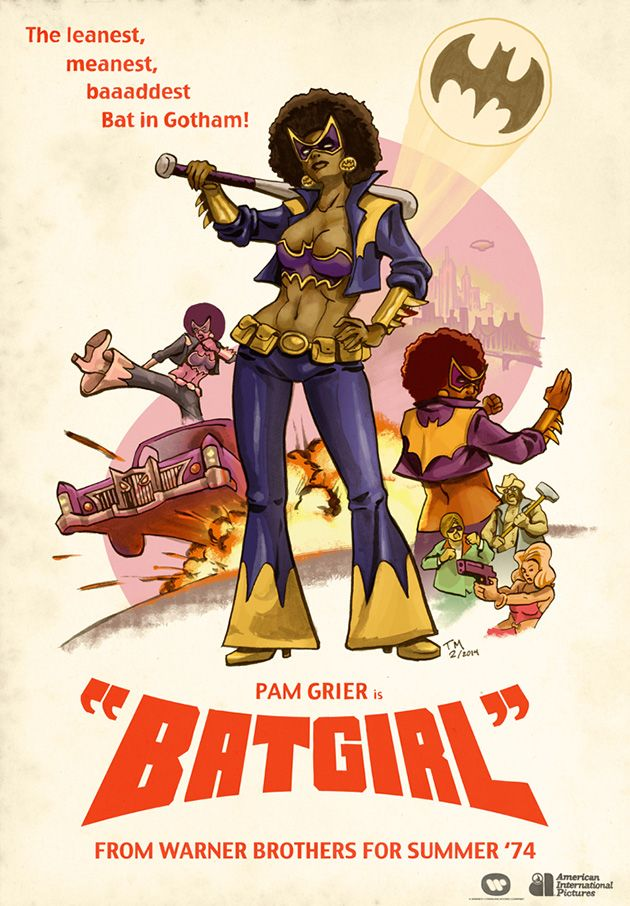 Pam Grier as Batgirl by Todd McArthur