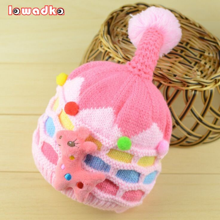 Cute Cartoon Baby Hat Boy Girl Infant Toddle Knit Soft Winter Thick Warm Newborn Cap