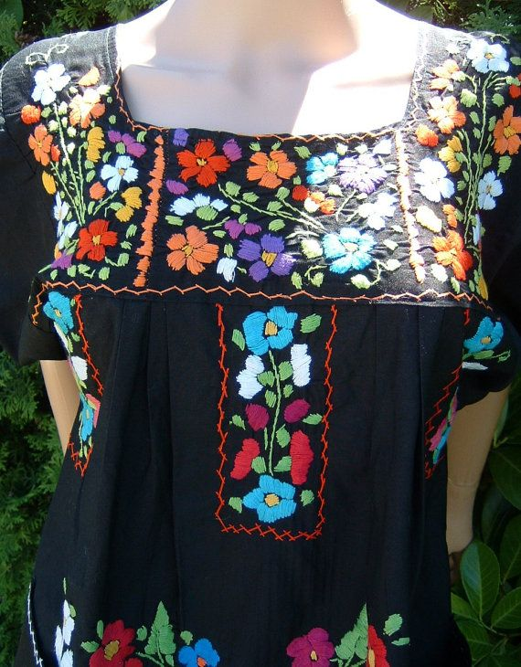 Authentic Mexican Embroidered Blouse 52