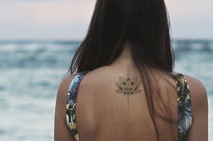 For all the Boho Lovers, the Lotus/Mandala Temporary Tattoo  #temporarytattoo #tattoo #tattooinspiration