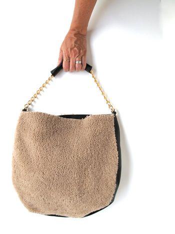 The clare vivier saddle bag! in shearling at nonchalantmom!