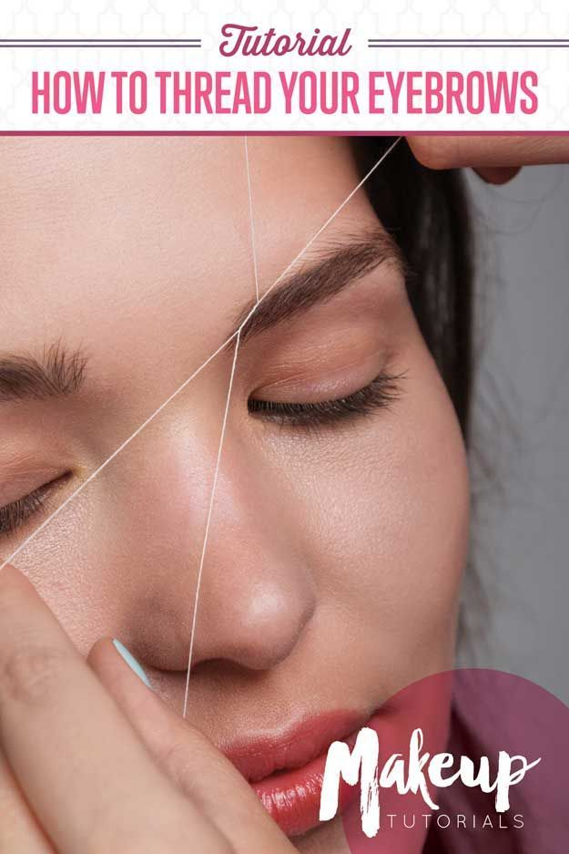 How To Thread Your Eyebrows | Makeup Tutorials http://makeuptutorials.com/eyebrow-threading