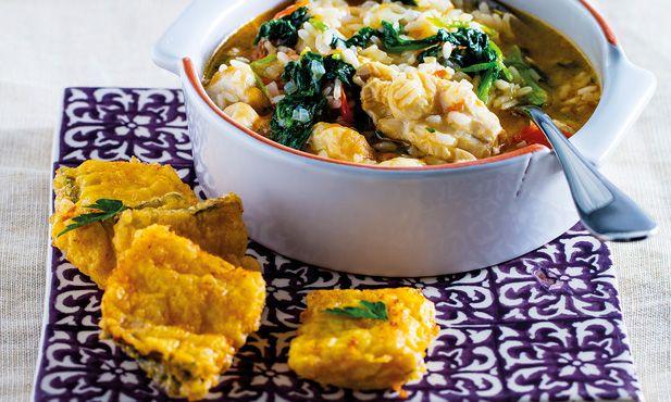 Filetes de bacalhau com arroz de línguas - o petisco do dia. Vou experimentar esta receita hoje