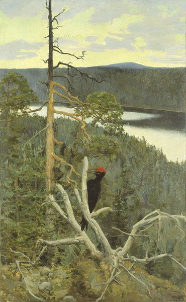 The Great Black Woodpecker - Akseli Gallen-Kallela