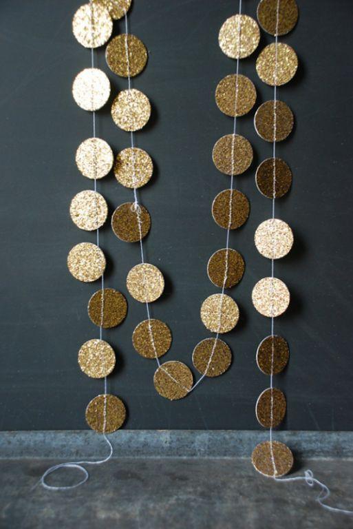 Oud en Nieuw feest decoratie - beeld: glitter en grain