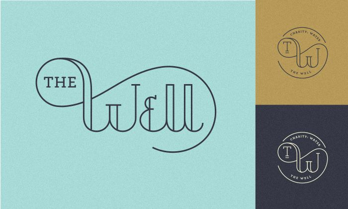 Mike Smith typographic logo for The Well