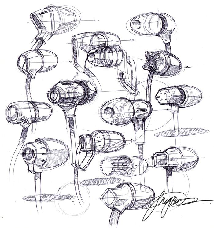 sketch a day 123 ear buds.