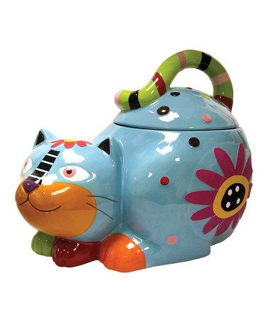 Take a look at this Flower Cat Cookie Jar by Westland Giftware on #zulily today!