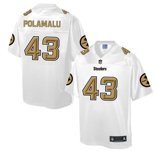 Men's Nike Pittsburgh Steelers #43 Troy Polamalu Game White Pro Line Fashion NFL Jersey