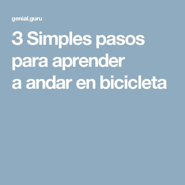 Aprende a andar en bicicleta