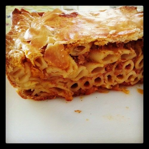 Besides pastizzi, a typical Maltese dish is 'timpana'. They are sold at pastizzi shops and are a quick cheap and very filling choice!! Highly recommended, just had one myself!!  #malta