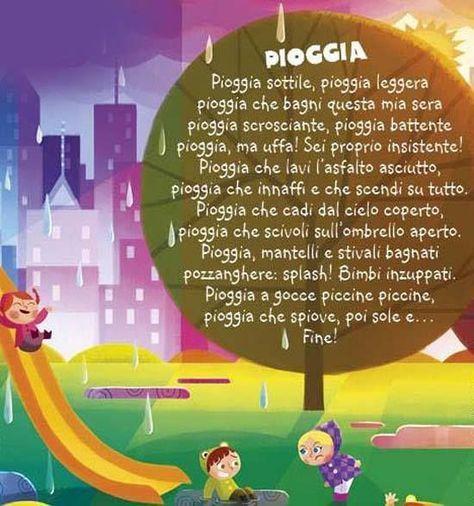 Risultati immagini per poesie sulla pioggia d'autunno per bambini