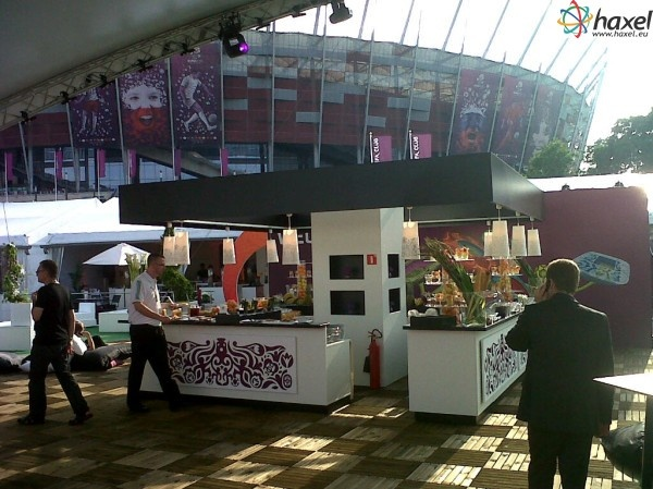 Hospitality Area at National Stadium in Warsaw. Nothing to complain about, really nice.