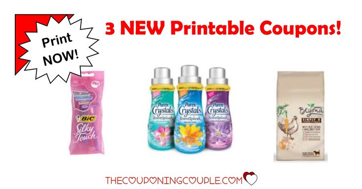 Be sure to print your 3 NEW Printable Coupons that were released this morning! Bic, Purex and Purina coupons available to print!  Click the link below to get all of the details ► http://www.thecouponingcouple.com/3-new-printable-coupons-12-8-17/ #Coupons #Couponing #CouponCommunity  Visit us at http://www.thecouponingcouple.com for more great posts!