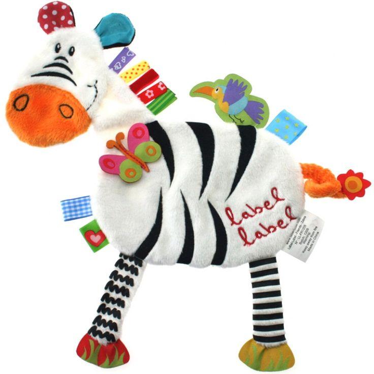 Doudou ploché Zebra Přátelé: Label Label - kolébka Magické