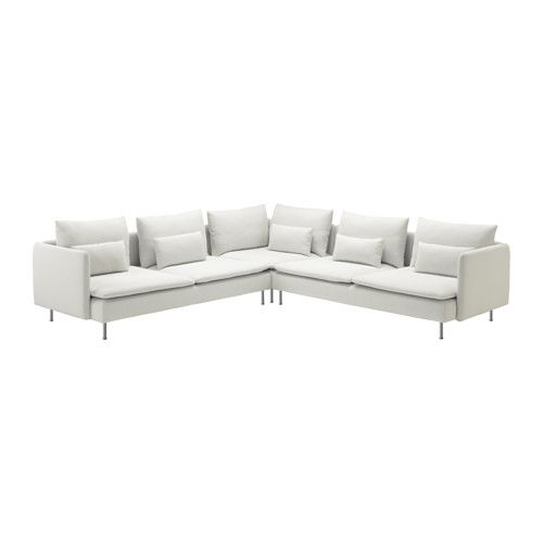 SÖDERHAMN Sofa narożna 2+2 - Finnsta biały - IKEA