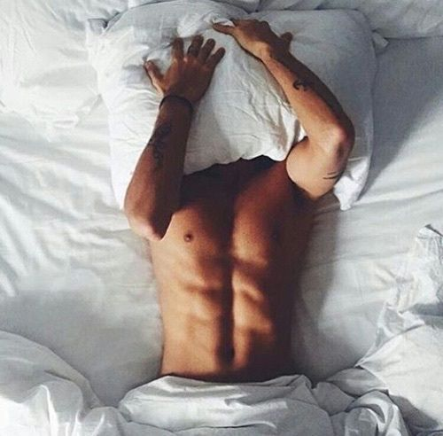 grafika bed, boy, and abs
