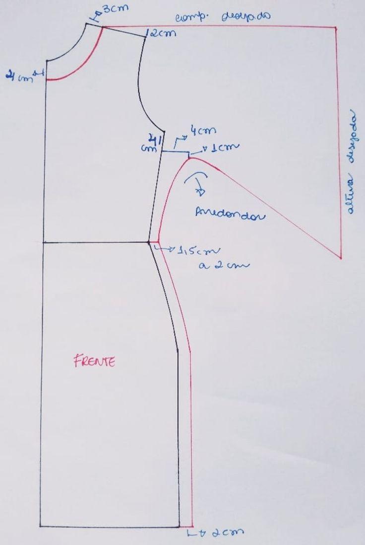 Sihblog – Modelagem e Costura – MOLDE VESTIDO COM MANGA DIFERENTE