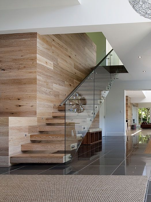 Smoked & Limed American Oak Timber Floors and Staircase