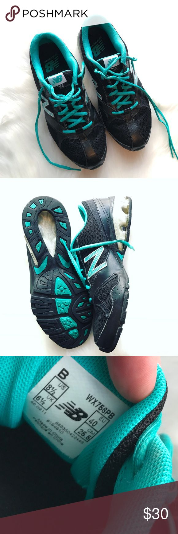 New Balance Cross Training Shoes Great condition black and teal 756 athletic shoes by New Balance. Feel free to make an offer! 💙 New Balance Shoes Athletic Shoes