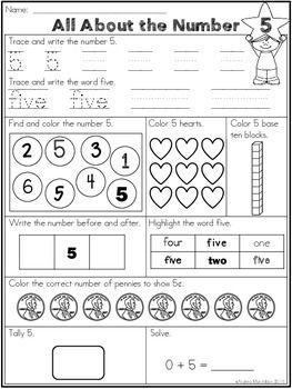 Number Worksheets 1 - 20   Pre-K: Numbers   Number