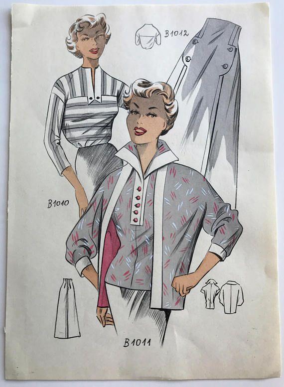 1950s Fashion Illustration Croquis 50s Retro Women 1950s Fashion Illustration 1950s Fashion Fashion Illustration