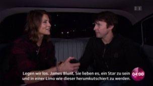 Interview in a pink limo: Annina Frey meets James Blunt (09.11.2017 Zurich, Switzerland)