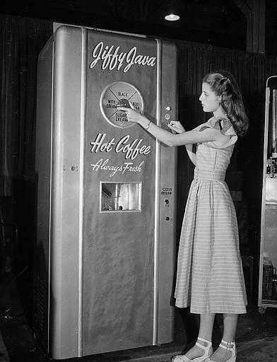 Coffee vending machine ... just turn the Giant Dial! Rumor has it that this is the first Keurig.