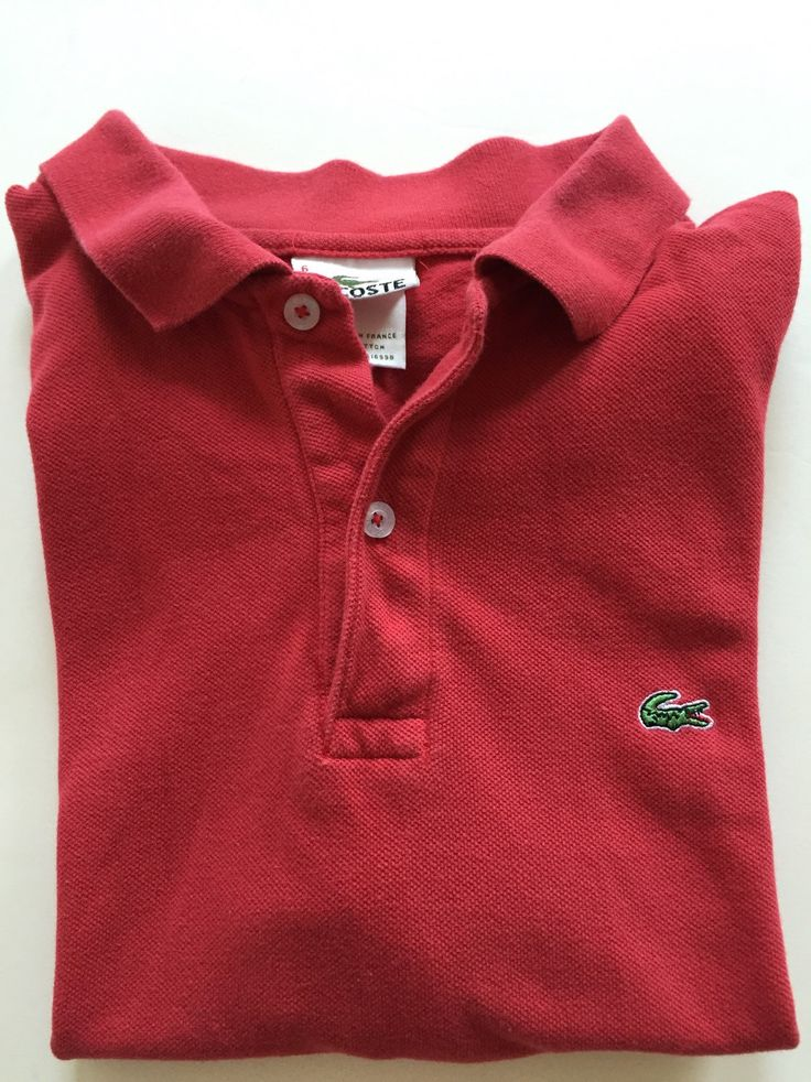 Vintage LACOSTE Polo Shirt | Red Short Sleeves | Size Six by BROCANTEBedStuy on Etsy