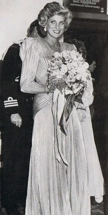 "November 1, 1985:  Princess Diana attending the premiere of the film ""Burke & Wills"" in Melbourne, Australia."