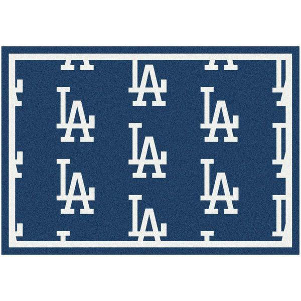 """Los Angeles Dodgers 10'9"""" x 13'2"""" Repeating Rug - $859.00"""