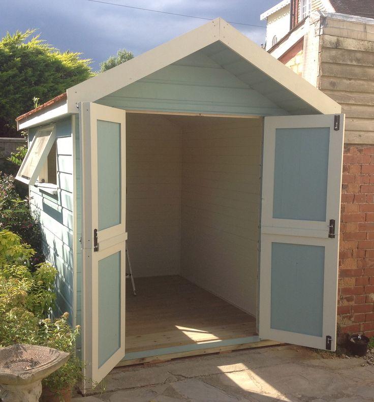 Custom made beach hut styled garden store with cedar