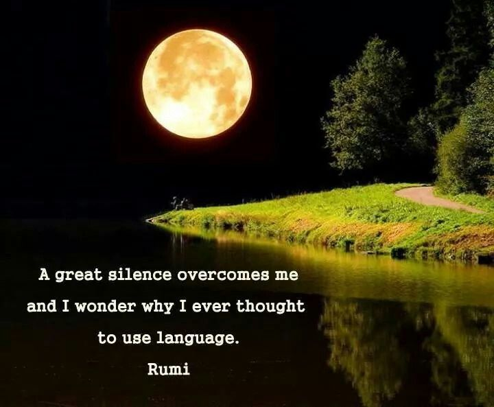 Image result for Rumi A Great Silence